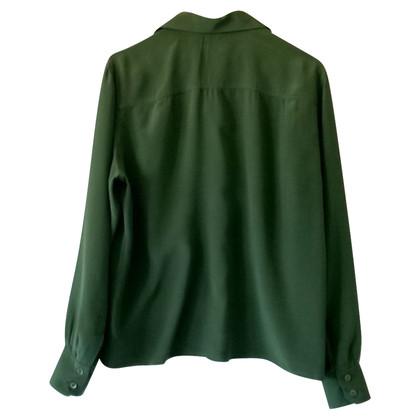 Céline Silk blouse in green