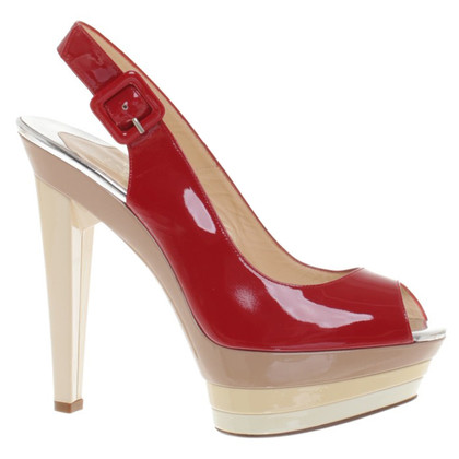 Christian Louboutin Red patent leather Slingbacks