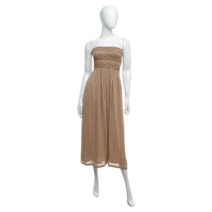 Twin-Set Simona Barbieri Bandeau dress in beige