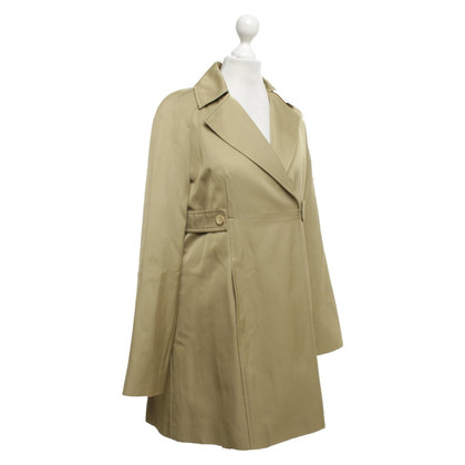Céline Satin coat in beige / green