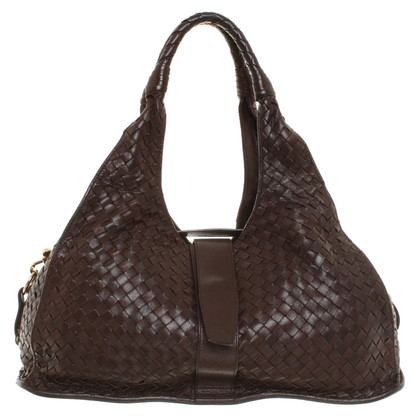 Bottega Veneta Borsa intrecciata in marrone
