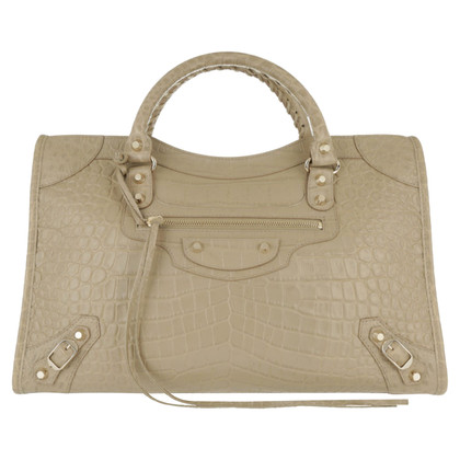 "Balenciaga ""Classic Stad Bag"" alligator-print"