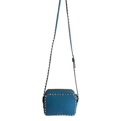 Valentino Turquoise Stud Rock Bag