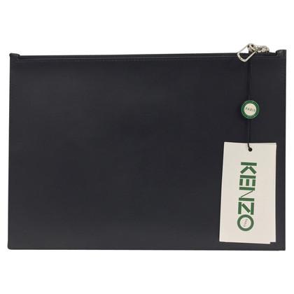 Kenzo pochette en cuir noir