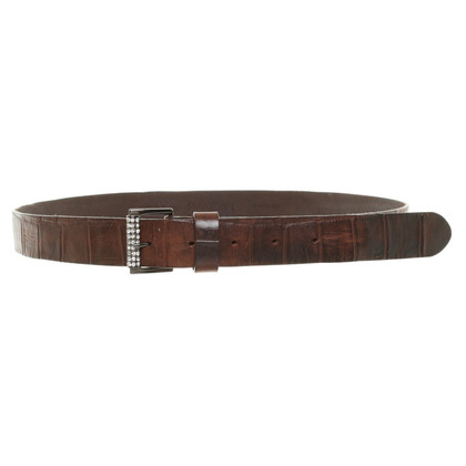 Marc Cain Leather belt with embossment