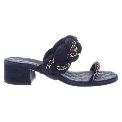 Chanel Sandals in dark blue