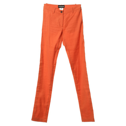 Ann Demeulemeester Hose aus Leinen in Orange