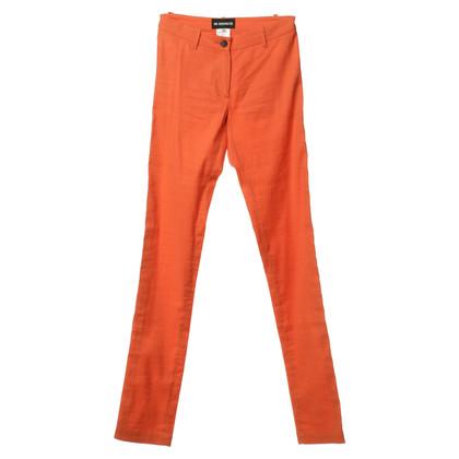 Ann Demeulemeester Pantaloni di lino in arancione
