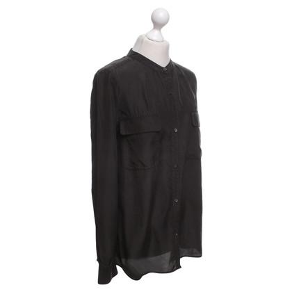 Closed blouse zwart