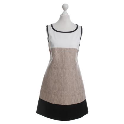 Karen Millen Sheath dress with material mix