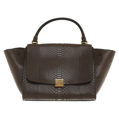 "Céline ""Trapeze Bag"" made of python leather"