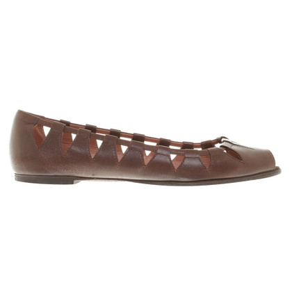 Alaïa Ballerinas in brown