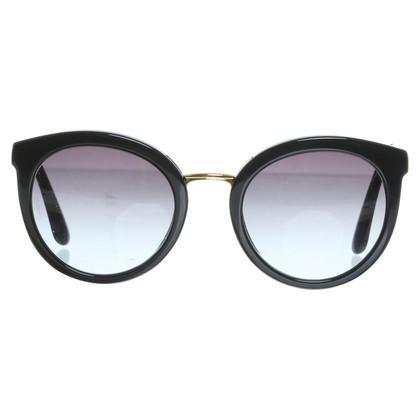 Dolce & Gabbana Sonnenbrille mit goldfarbenen Details