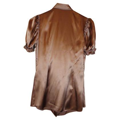 Dolce & Gabbana Zijden blouse in bruin