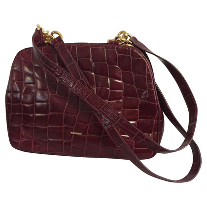 Emanuel Ungaro Shoulder bag in crocodile look