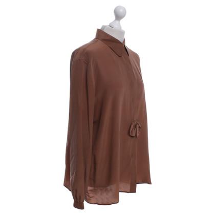 Giorgio Armani camicetta di seta in marrone