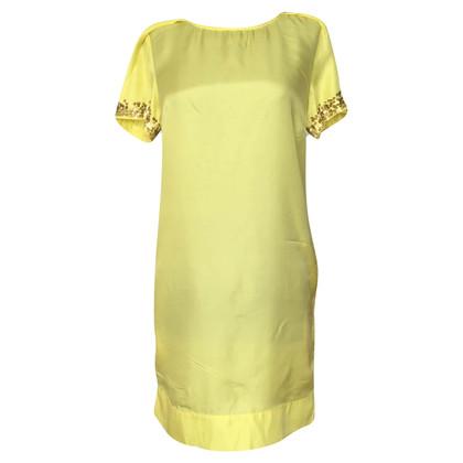 Patrizia Pepe Gele zijden jurk