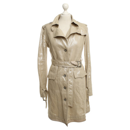 Ermanno Scervino Trench aux reflets or