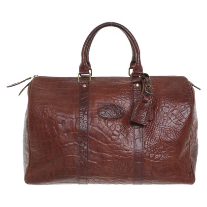 Mulberry Weekender in reptile look