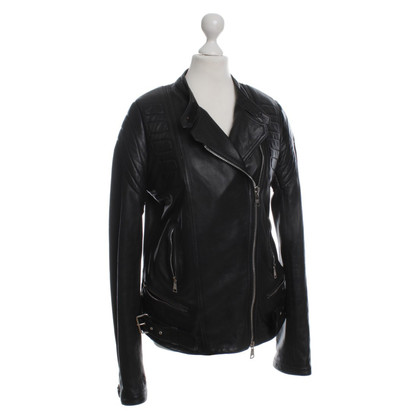 Giorgio Brato Leather jacket in black