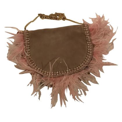 Patrizia Pepe Handbag with ostrich feathers