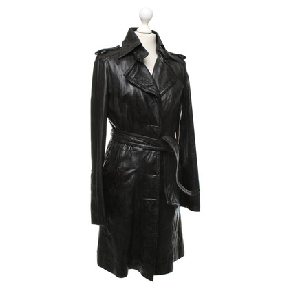 Drykorn Black leather coat
