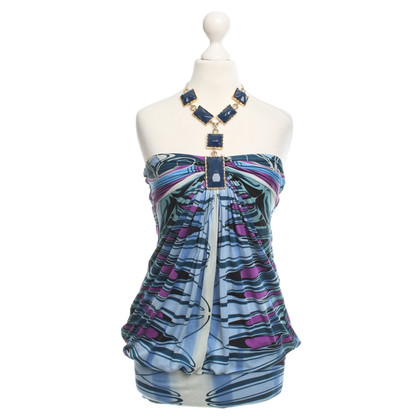 Sky zijden jurk met ketting