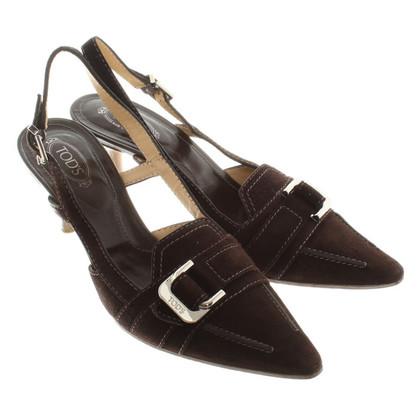 Tod's Wild leatherpumps in brown