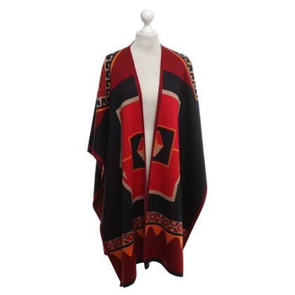 Max Mara Poncho with ethnic pattern