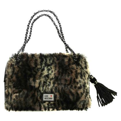 Moschino Love Handbag with fur trim