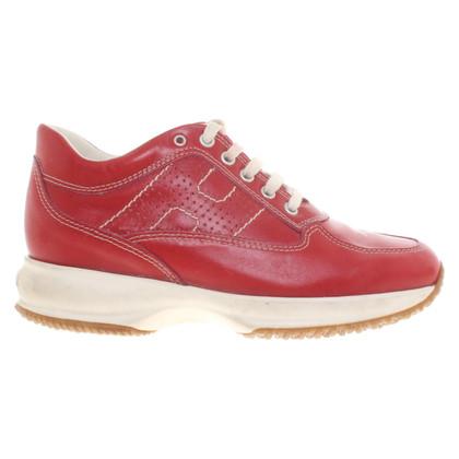 Hogan Sneakers in rood / crème