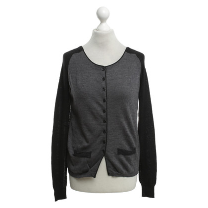 Twin-Set Simona Barbieri Cardigan in Grau/Schwarz