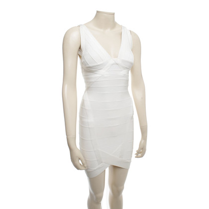 Herve Leger Mini abito in crema