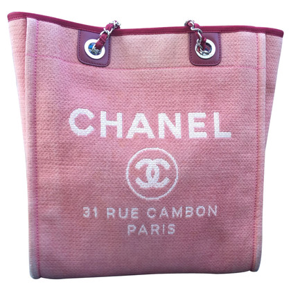 """Chanel """"Deauville Canvas Tote Bag"""""""