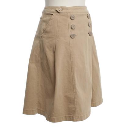 Max Mara Cotton skirt in beige