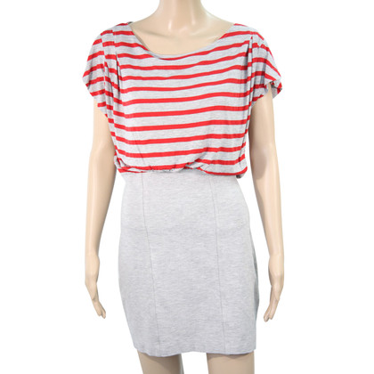 French Connection Striped dress in grey