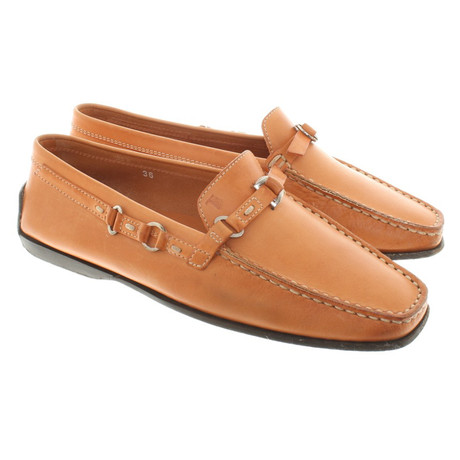 Loafer Tod's Leder Tod's aus Loafer aus Orange Leder wIq5OxH