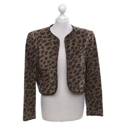 Givenchy Leather jacket with animal print