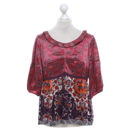 Odd Molly Silk blouse with pattern