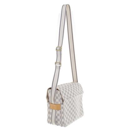 Louis Vuitton Satchel Bag Damier Azur Canvas
