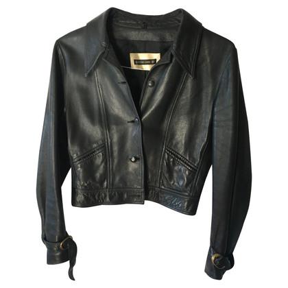 Plein Sud Black leather jacket