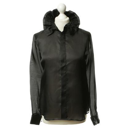 Ralph Lauren Zwarte zijden blouse