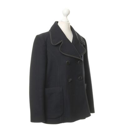 Tara Jarmon Caban jacket in Navy