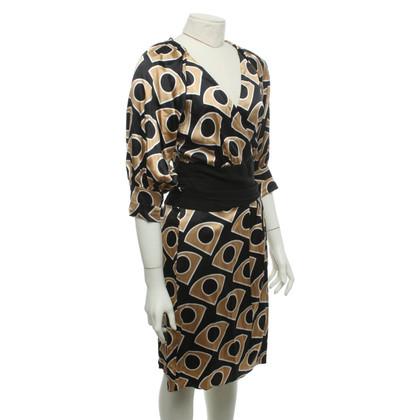 Diane von Furstenberg Wikkel jurk met grafische print