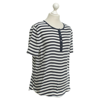 Equipment Blouse shirt in blue / white