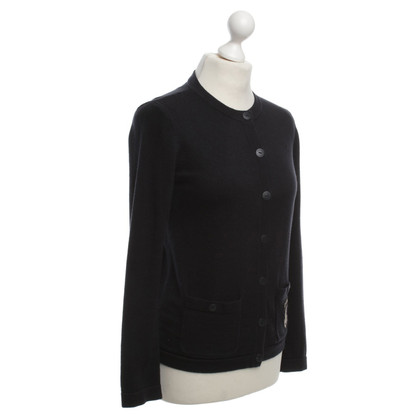 Chanel Cardigan with logo patch