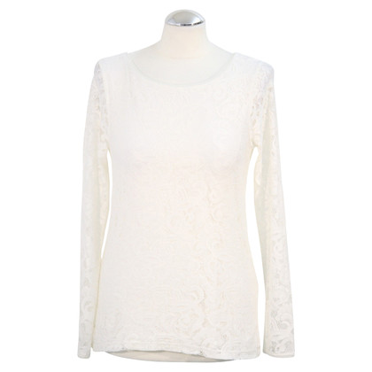 Reiss Lace Top in White