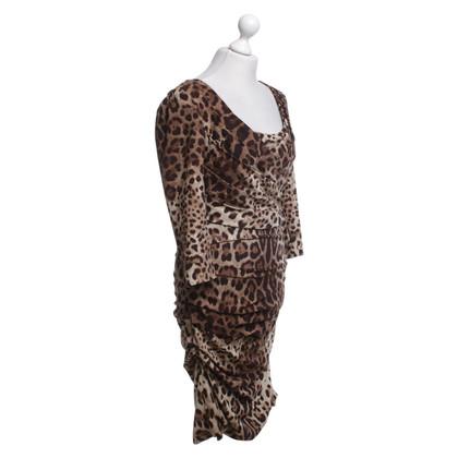 Dolce & Gabbana Elegant dress with leopard print