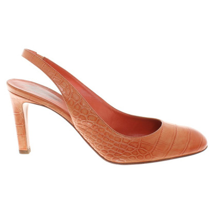 Santoni Slingback pumps in Orange