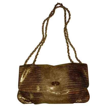 Elie Tahari lizard embossed shoulder bag